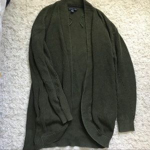 Sweaters - Green AE Knit Cardi